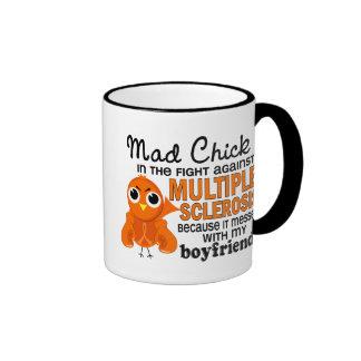 Mad Chick 2 Boyfriend Multiple Sclerosis MS Ringer Mug