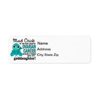 Mad Chick 2 Goddaughter Ovarian Cancer Return Address Label
