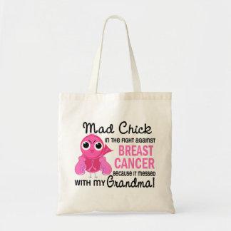 Mad Chick 2 Grandma Breast Cancer Tote Bag