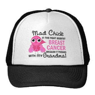 Mad Chick 2 Grandma Breast Cancer Mesh Hat