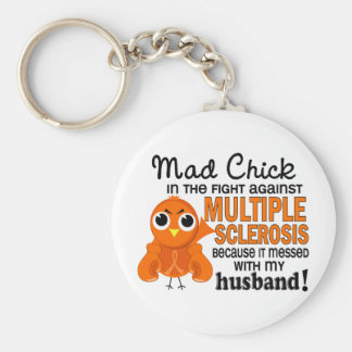 Mad Chick 2 Husband Multiple Sclerosis MS Key Ring