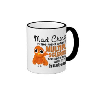 Mad Chick 2 Husband Multiple Sclerosis MS Ringer Mug