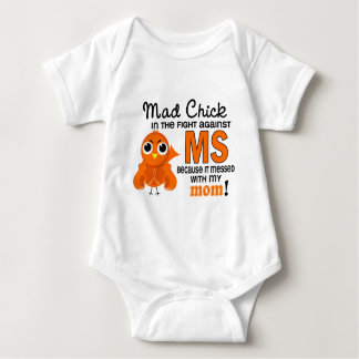 Mad Chick 2 Mom Multiple Sclerosis MS Baby Bodysuit