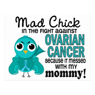 Mad Chick 2 Mommy Ovarian Cancer Postcard