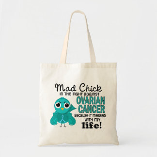 Mad Chick 2 My Life Ovarian Cancer Budget Tote Bag