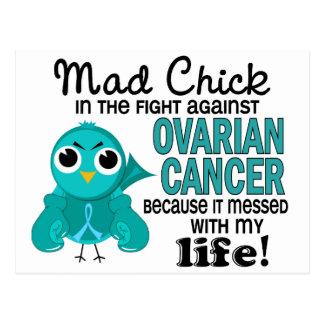 Mad Chick 2 My Life Ovarian Cancer Postcard