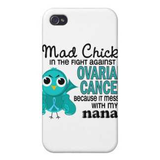 Mad Chick 2 Nana Ovarian Cancer iPhone 4/4S Cover