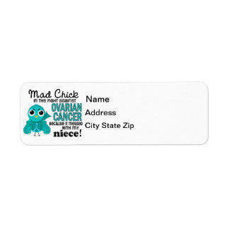 Mad Chick 2 Niece Ovarian Cancer Return Address Label