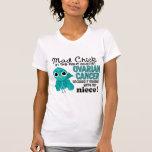 Mad Chick 2 Niece Ovarian Cancer Tshirt