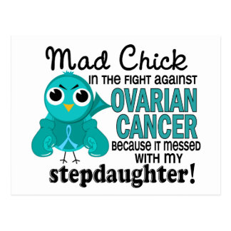 Mad Chick 2 Stepdaughter Ovarian Cancer Postcard