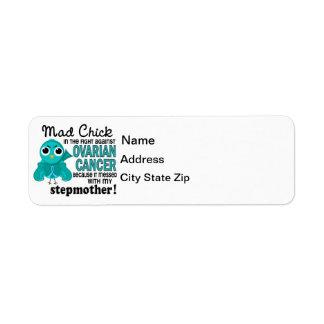 Mad Chick 2 Stepmother Ovarian Cancer Return Address Label