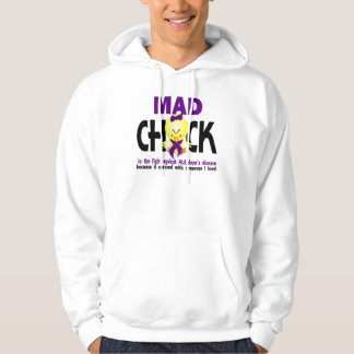 Mad Chick In The Fight Alzheimer's Disease Hoodie