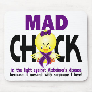 Mad Chick In The Fight Alzheimer's Disease Mouse Pad