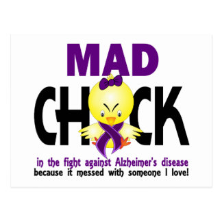 Mad Chick In The Fight Alzheimer's Disease Postcard