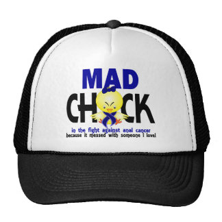 Mad Chick In The Fight Anal Cancer Hats