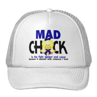 Mad Chick In The Fight Anal Cancer Trucker Hat