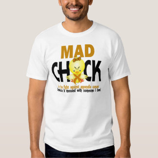 Mad Chick In The Fight Appendix Cancer Shirt