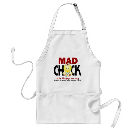 Mad Chick In The Fight Bone Cancer Apron