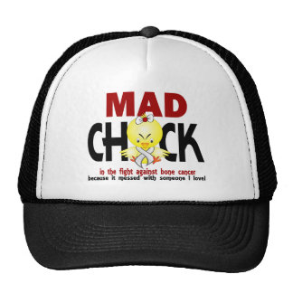 Mad Chick In The Fight Bone Cancer Mesh Hat