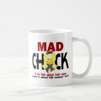 Mad Chick In The Fight Brain Cancer Mug