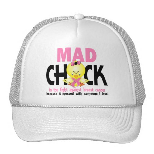 Mad Chick In The Fight Breast Cancer Hats