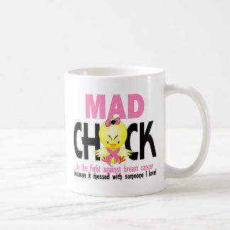 Mad Chick In The Fight Breast Cancer Mugs