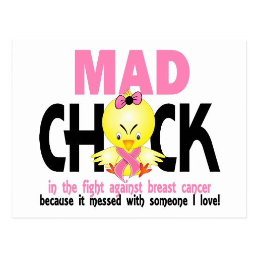 Mad Chick In The Fight Breast Cancer Post Cards