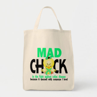 Mad Chick In The Fight Celiac Disease Canvas Bags