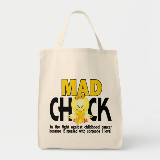 Mad Chick In The Fight Childhood Cancer Bags