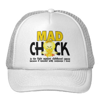 Mad Chick In The Fight Childhood Cancer Cap