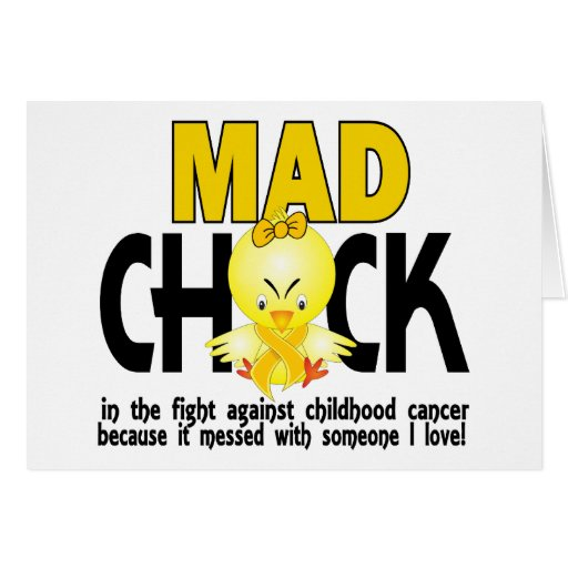 Mad Chick In The Fight Childhood Cancer Greeting Cards