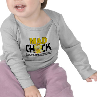 Mad Chick In The Fight Childhood Cancer T Shirts
