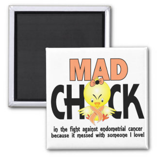 Mad Chick In The Fight Endometrial Cancer Fridge Magnet