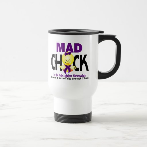 Mad Chick In The Fight Fibromyalgia Coffee Mugs