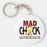Mad Chick In The Fight Head And Neck Cancer Keychains