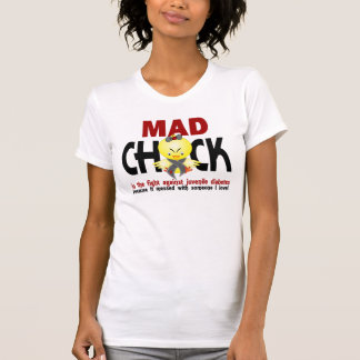 Mad Chick In The Fight Juvenile Diabetes T-Shirt