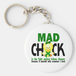 Mad Chick In The Fight Kidney Disease Basic Round Button Key Ring