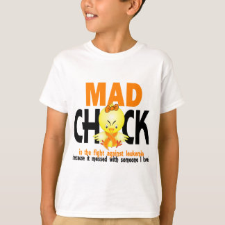 Mad Chick In The Fight Leukemia Tshirt