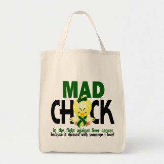 Mad Chick In The Fight Liver Cancer Tote Bag