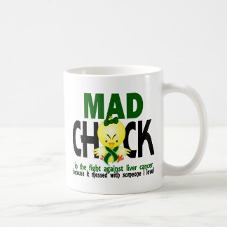 Mad Chick In The Fight Liver Cancer Coffee Mugs