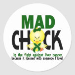 Mad Chick In The Fight Liver Cancer Sticker