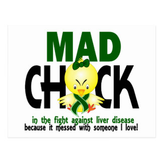 Mad Chick In The Fight Liver Disease Postcard