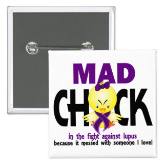 Mad Chick In The Fight Lupus 15 Cm Square Badge