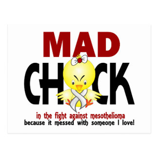 Mad Chick In The Fight Mesothelioma Postcard