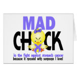 Mad Chick In The Fight Stomach Cancer Card
