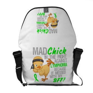 Mad Chick Messed With BFF 3 Lymphoma Messenger Bag