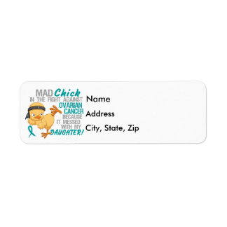 Mad Chick Messed With Daughter 3 Ovarian Cancer Return Address Label