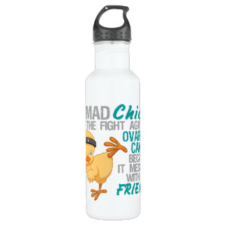 Mad Chick Messed With Friend 3 Ovarian Cancer 710 Ml Water Bottle