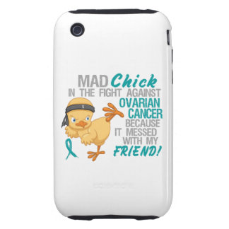 Mad Chick Messed With Friend 3 Ovarian Cancer Tough iPhone 3 Case