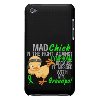 Mad Chick Messed With My Grandpa 3 Lymphoma iPod Case-Mate Cases